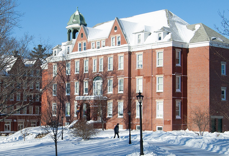 Robie Andrews Hall the day after a snowstorm